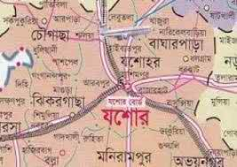 যশোর জেলা ম্যাপ