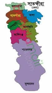 সাতক্ষীরা জেলা ম্যাপ