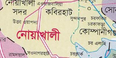 নোয়াখালী noakhali map