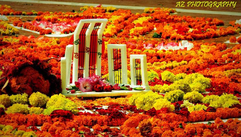 গৌরব উজ্জ্বল ভাষার মাসে ভিন্ন সাজে শহীদ শহীদ মিনার