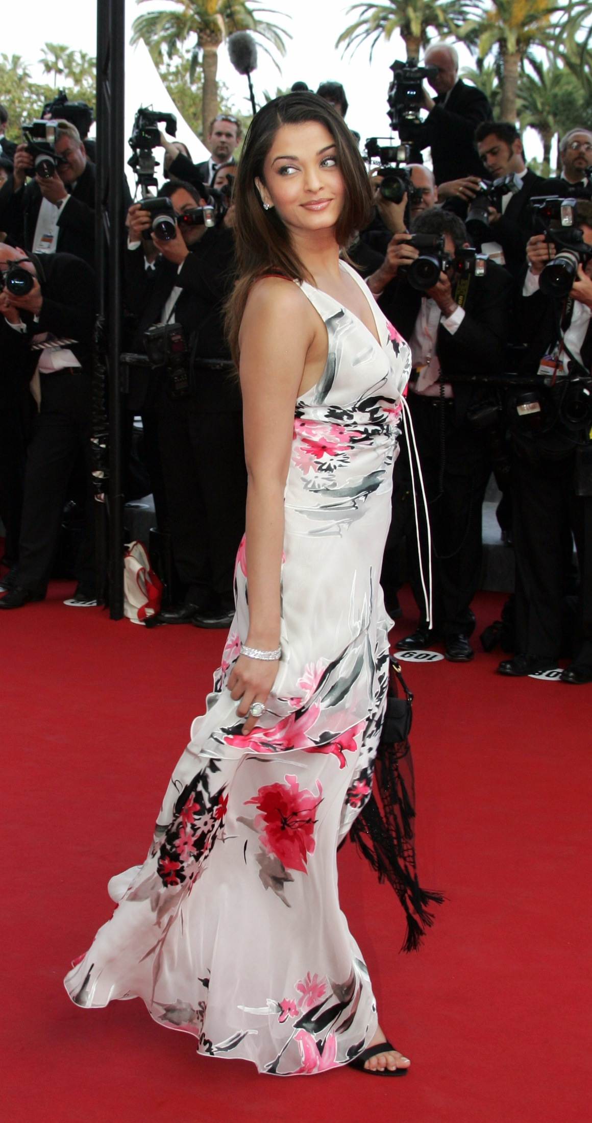 Bollywood star Rai poses during red carpet arrivals for the out of competition screening of US director Allen''s film Match Point at the 58th Cannes Film Festival