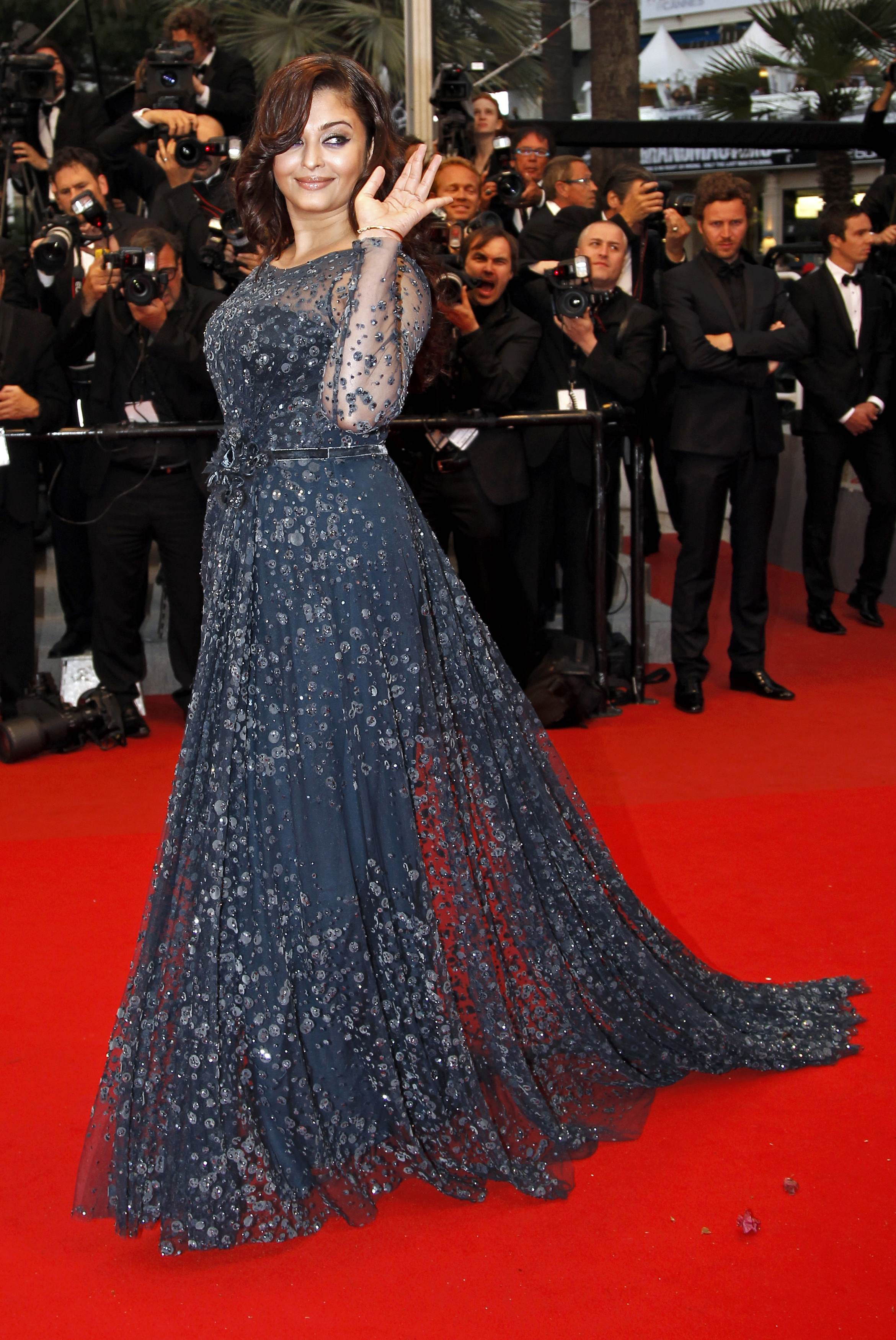 Actress Rai arrives on the red carpet ahead of the screening of the film Cosmopolis in competition at the 65th Cannes Film Festival