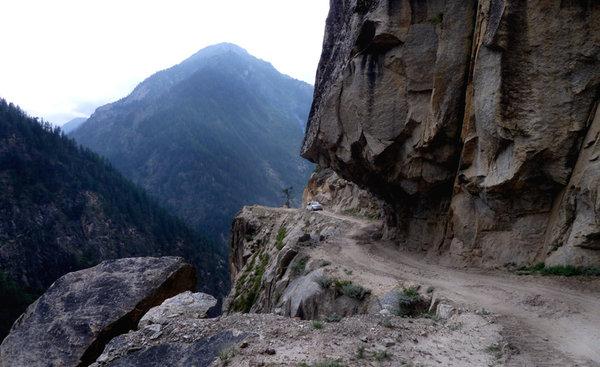 Rock cut road
