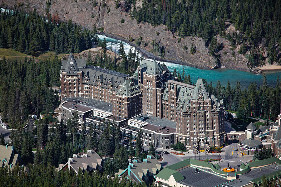 fairmont-banff-springs-hotel-with-the-bow-river-falls-banff-alberta-canada-george-oze