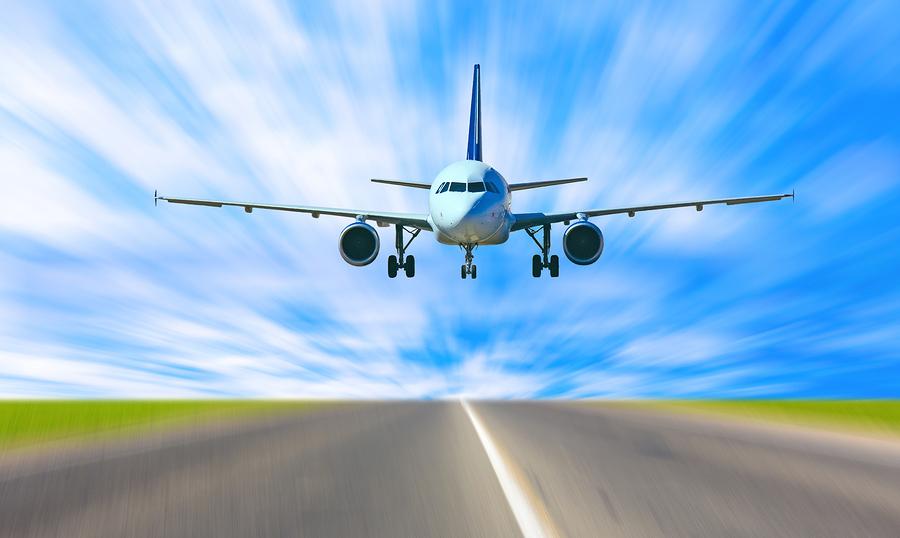 bigstock-Plane-landing-12678797