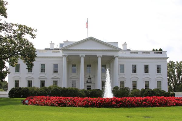 The White House grounds on September 28, 2012.