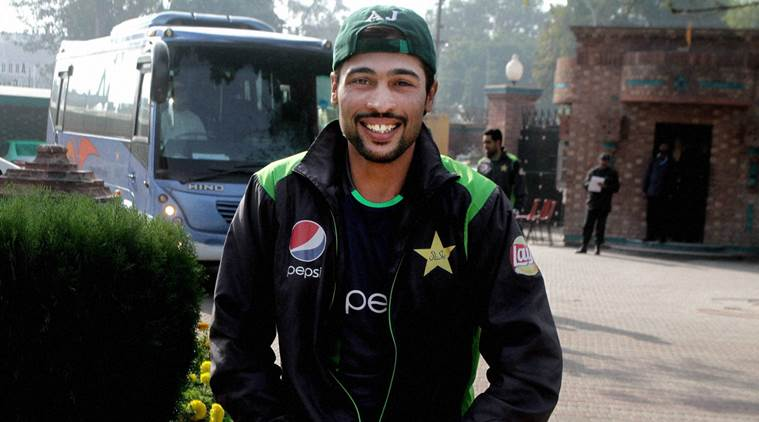 Lahore : Pakistan fast bowler Mohammad Amir arrives at National Cricket Academy in Lahore, Pakistan, Saturday, Dec. 26, 2015. Pakistan ODI captain Azhar Ali and opening batsman Mohammad Hafeez agree to join training camp on Saturday and end their boycott over the inclusion of Amir in the training camp for next month's tour of New Zealand. AP/PTI(AP12_26_2015_000107B)