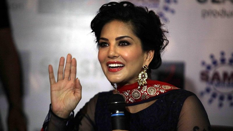 Actress Sunny Leone during a programme to promote her upcoming film `Ragini MMS 2` in Lucknow on March 12, 2014. (Photo: IANS)