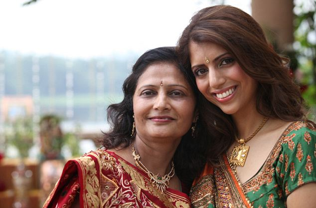 Nilam Hindocha, 49, embracing her daughter Anni Dewani after her wedding to Shrien Dewani in Mumbai. It is the last picture the family have of Anni alive.  She was killed in South Africa on her honeymoon, and her husband Shrien Diwani, is accused of arranging her murder.  COPYRIGHT HINDOCHA FAMILY   collect by Arne Lundstrom,