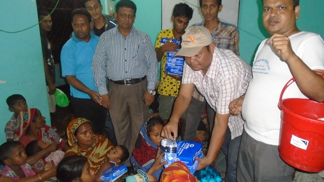 Picture on emergency Relief distribution
