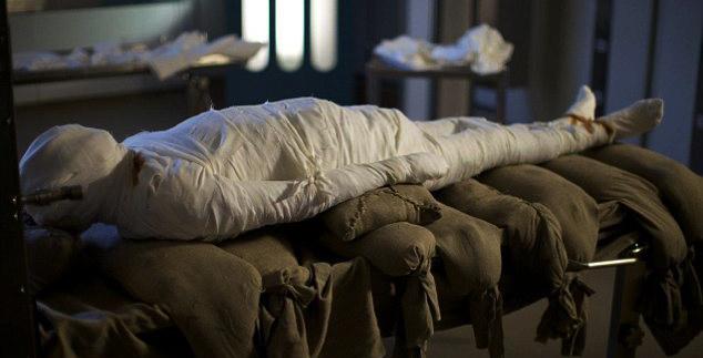 a mummified Alan Billis from the mummifying alan channel 4 programme