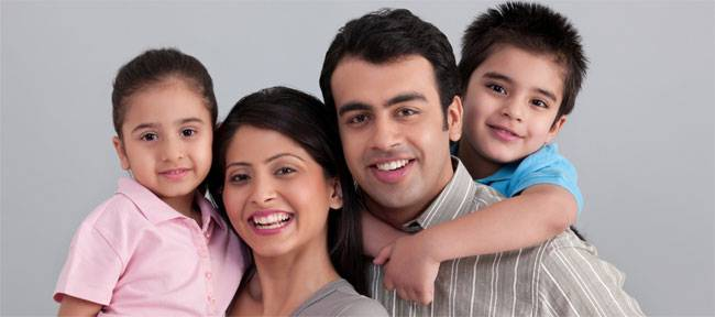 happy-indian-family child