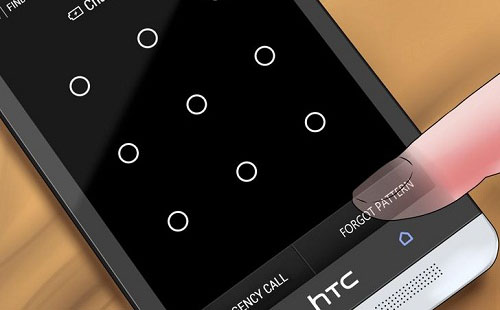 solution of forgetting password pattern in smartphone