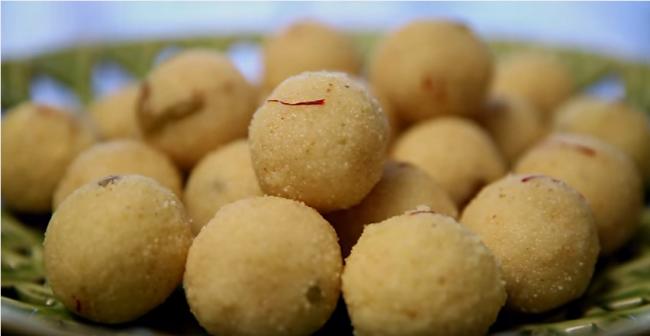 Rava Laddu   Traditional Indian Dessert Recipe   Janmashtami Special   Divine Taste With Anushruti   YouTube