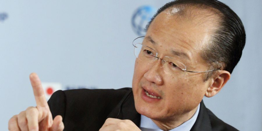 Jim Yong Kim, president of the World Bank Group, speaks during a news conference with Taro Aso, Japan's deputy prime minister and finance minister, unseen, during a news conference at the Global Conference on Universal Health Coverage for Inclusive and Sustainable Growth in Tokyo, Japan, on Friday, Dec. 6, 2013. Kim predicted on Nov. 12 another wave of higher global interest rates that could hurt emerging markets when the U.S. Federal Reserve starts tapering its $85 billion-a-month asset-purchase program. Photographer: Tomohiro Ohsumi/Bloomberg via Getty Images